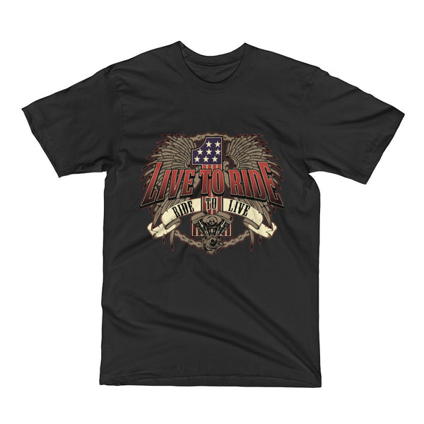 """Live To Ride Ride To Live"" - Biker Lifestyle T-Shirt"