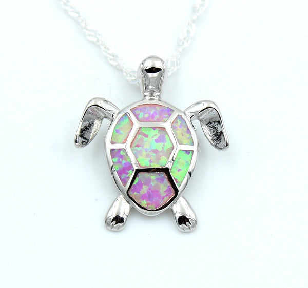 Opal Sea Turtle Necklace