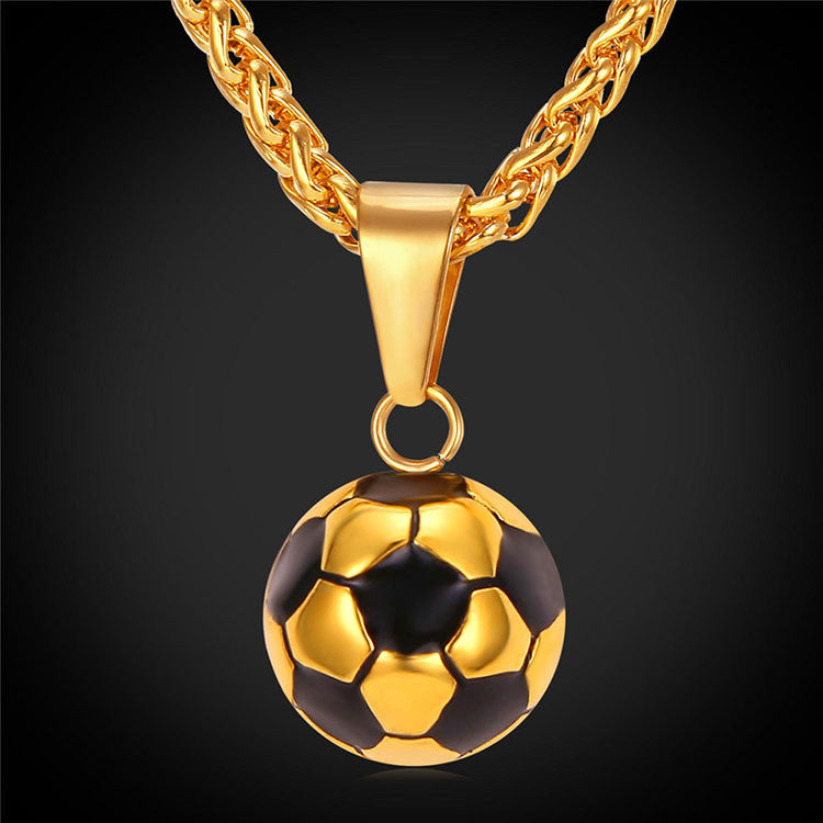 """Soccer Ball"" - Unisex Soccer Fan Necklace - Bargain Love"
