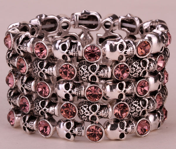 Antique Style Skull Stretch Bracelet - Bargain Love