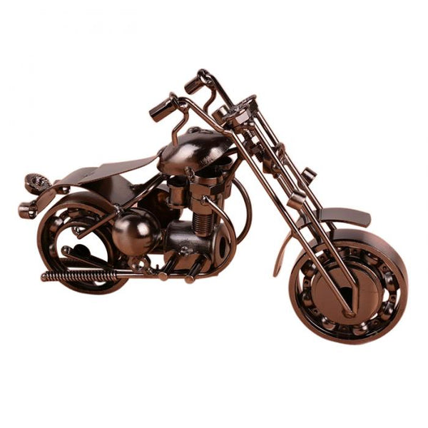Handcrafted Metal Motorcycle Model