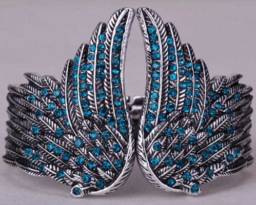 Unique Angel Wings Feather Biker Bracelet - Bargain Love