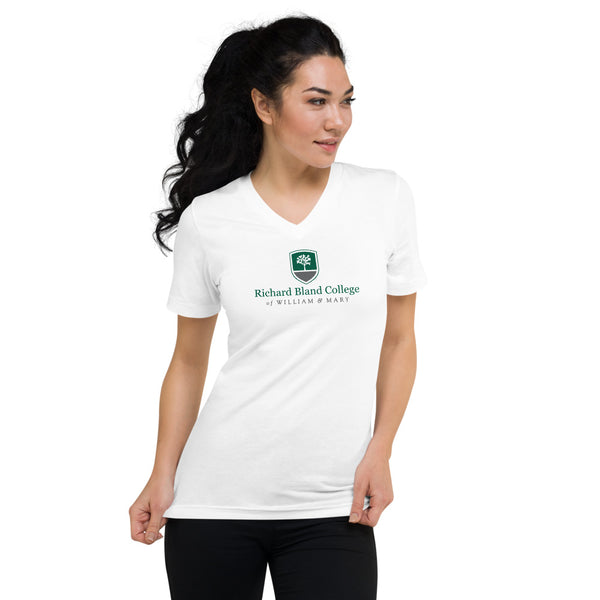 Unisex Short Sleeve V-Neck Richard Bland College T-Shirt