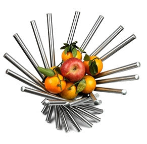 Heliot Stainless Steel Modern Fruit Bowl - Bargain Love