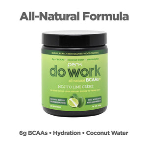 Perk Do Work BCAA+ All Natural Mojito Lime Creme (20 servings)