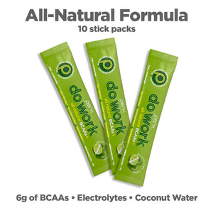 Perk Do Work BCAA+ All Natural Mojito Lime Creme — 10 stick packs