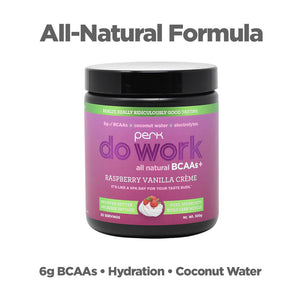 Perk Do Work BCAA+ All Natural Raspberry Vanilla Creme (20 servings)
