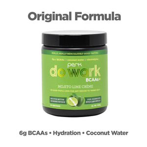 Perk Do Work BCAA+ Original Mojito Lime Creme (20 servings)