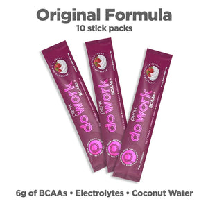 Perk Do Work BCAA+ Original Raspberry Vanilla Creme — 10 stick packs