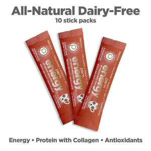 Perk Energy All-Natural Dairy-Free Mexican Hot Chocolate — 10 Stick Packs