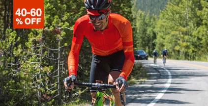 40-60% Off Cycling Jerseys for Men and Women
