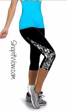 Yoga Leggings, Stretch Comfort with Cool Color Prints. Sizes M, L, XL, XXL from ShopitWow.com