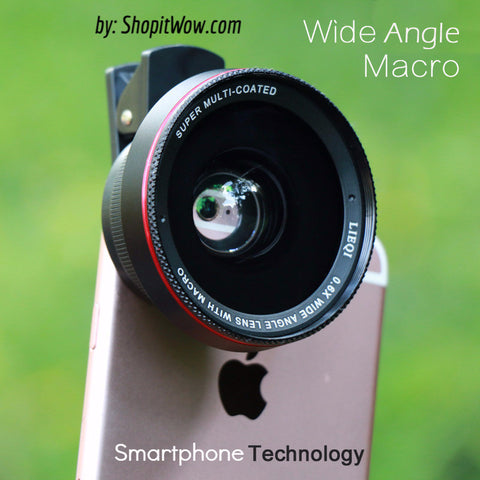 Super Photo Lens Attachment for SmartPhones Wide Angle 10x Macro fits iPhone and Samsung
