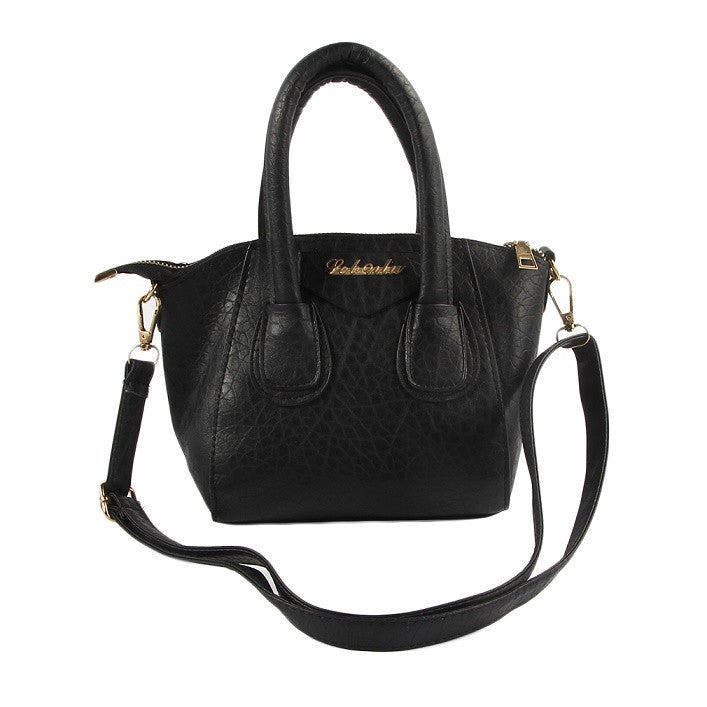 Women's Stylish Satchel Handbag Split-Leather With Shoulder Strap Zipper Purse from ShopitWow.com