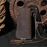 Mens Genuine Leather Chain Wallet