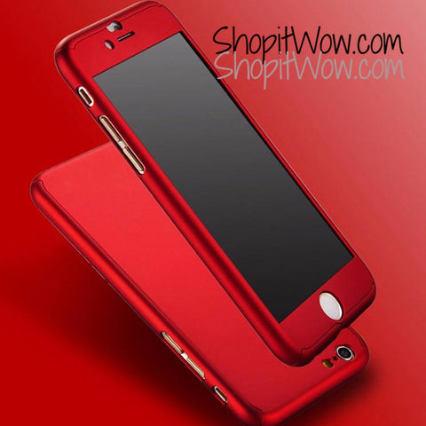 Apple iphone 6 6plus, New Hybrid 360 Hard Case Red