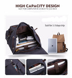 Canvas Backpack High Quality Travel Bags Laptop Style 15.6 inch Backpack blue/black inside