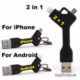 Phone Gear KeyChain 2 IN 1 micro USB + Sync Data Charger from ShopitWow.com