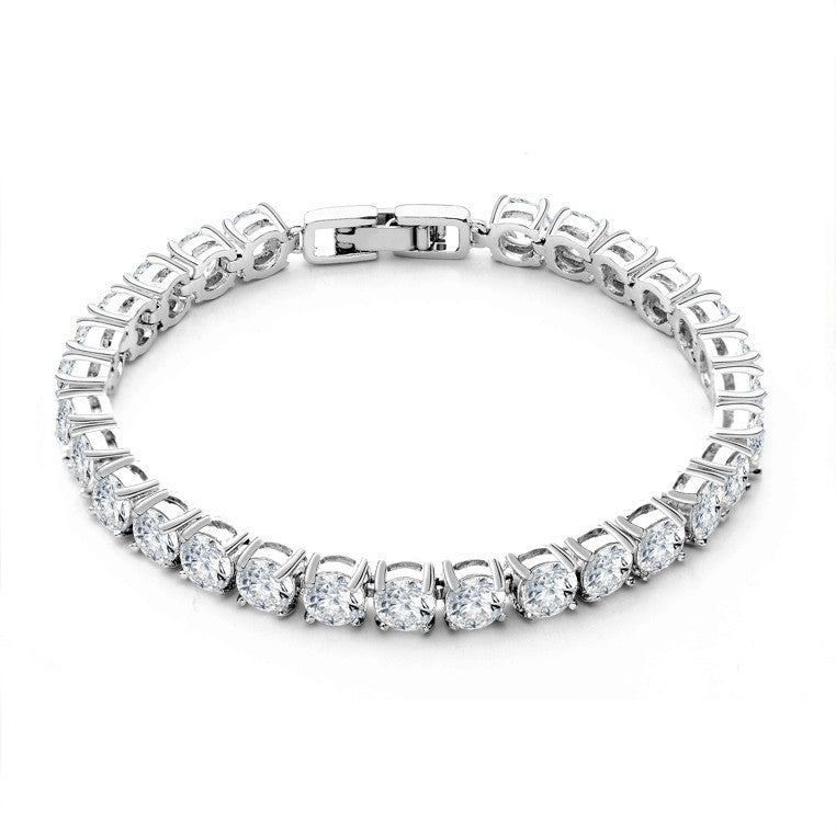 "Women's Fashion Sterling Silver With Cubic Zirconia Tennis Bracelet 7"" from ShopitWow.com"