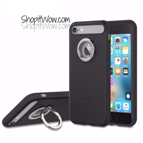 New iPhone 7, 7 plus With Ring Holder/Stand Phone Gear Case Cover at ShopitWow.com