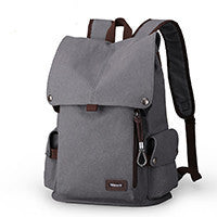 Canvas Backpack High Quality Travel Bags Laptop Style 15.6 inch Backpack new gray