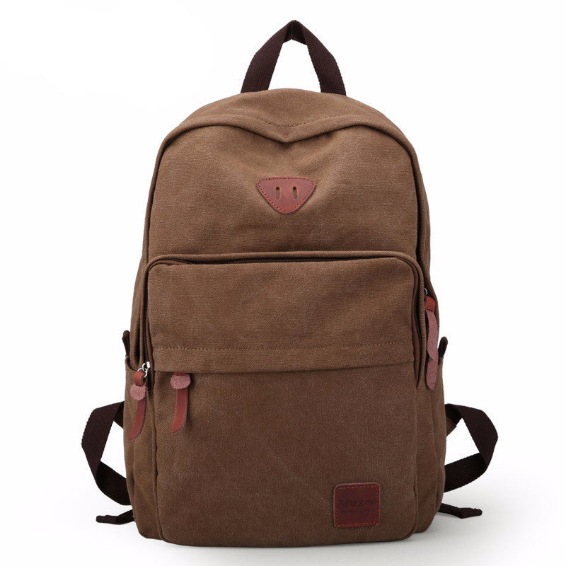 Leisure Style Backpack Bags Premium Made Canvas Backpack w/HD Zipper at ShopitWow.com