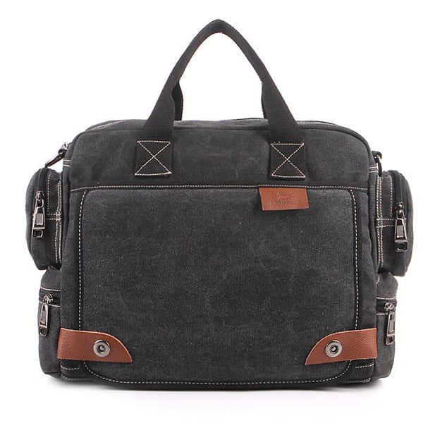 Crossbody Canvas Shoulder Bags Messenger Briefcase Styler at ShopitWow.com