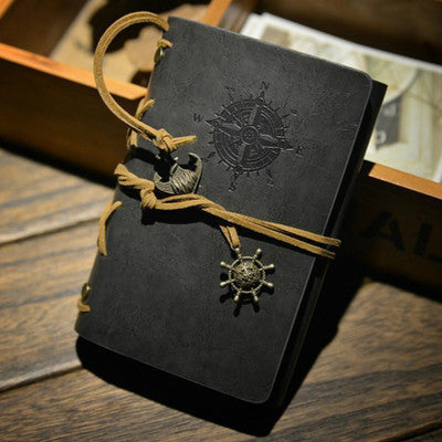 Vintage Pirate Anchors leather Traveler Journal - ShopitWow Store