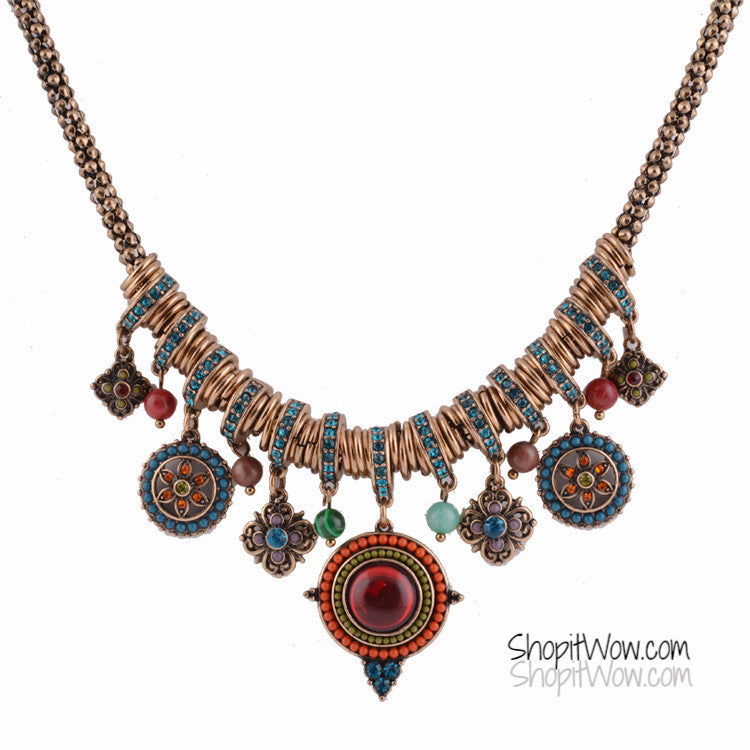 Lovely Gold Bohemian Pendants and Beads Necklace - ShopitWow Store
