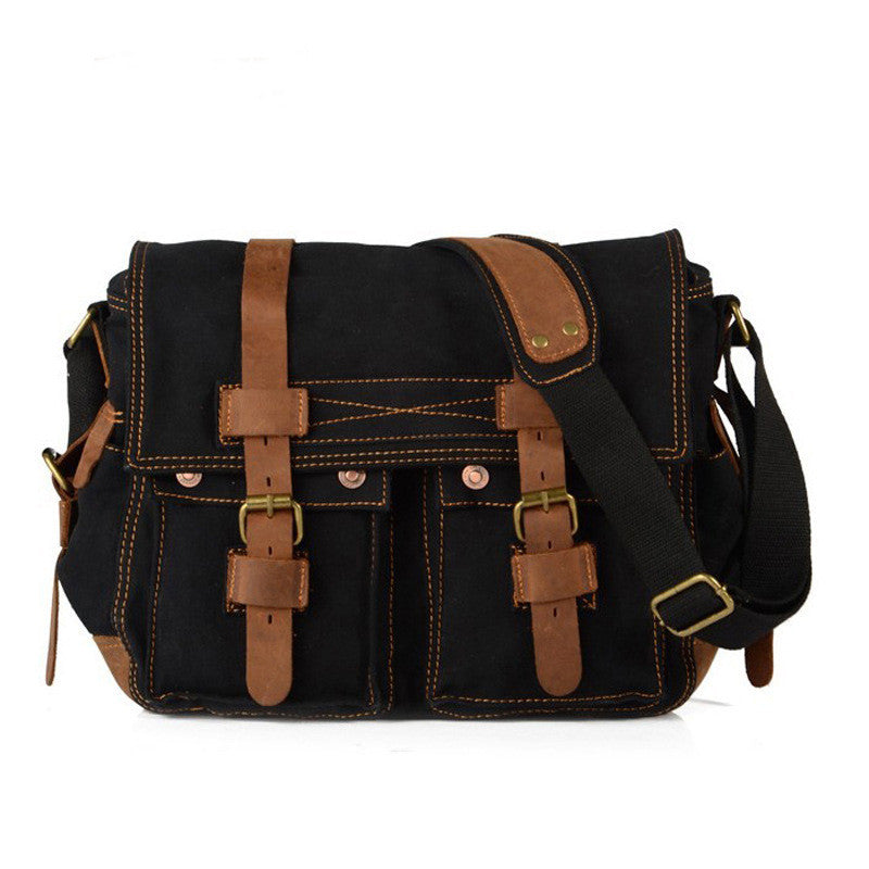 Sport / Travel Bag, Vintage Style Canvas & Leather - ShopitWow Store