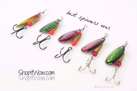 5pcs Fishing Lure spinners, Mixed Colors - ShopitWow Store