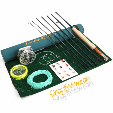 Fast Action Carbon Fiber Fly Rod And Fishing Accessory Setup - ShopitWow Store