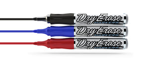Red Blue and Black Refillable Dry Erase Markers