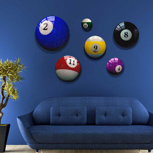 Man Cave - Billiard Room Decor Pool Ball Art Prints - Pub - Rec Room Decor - Office Art - Interior Design - Wall Art Canvas Prints
