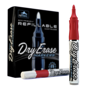 Red Refillable Dry Erase Markers - Box of 12