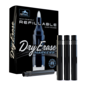 8 Black Ink Refills for ReThinc Dry Erase Markers