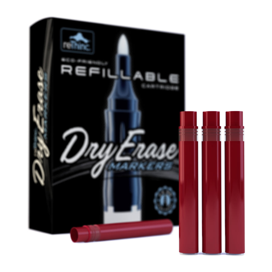 8 Red Ink Refills for ReThinc Dry Erase Markers