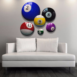 Man Cave - Pool Ball Canvas Art Prints - Office Wall Art - Game Room Decor - Billiard Supply - Home Decor - Wall Art Canvas Prints