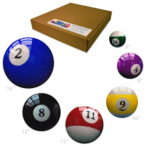 Man Cave - Fun Billiard Room Decor Pool Ball Art Prints - Modular Wall Decor - Billiard Supply Decor - Individual Art Panels