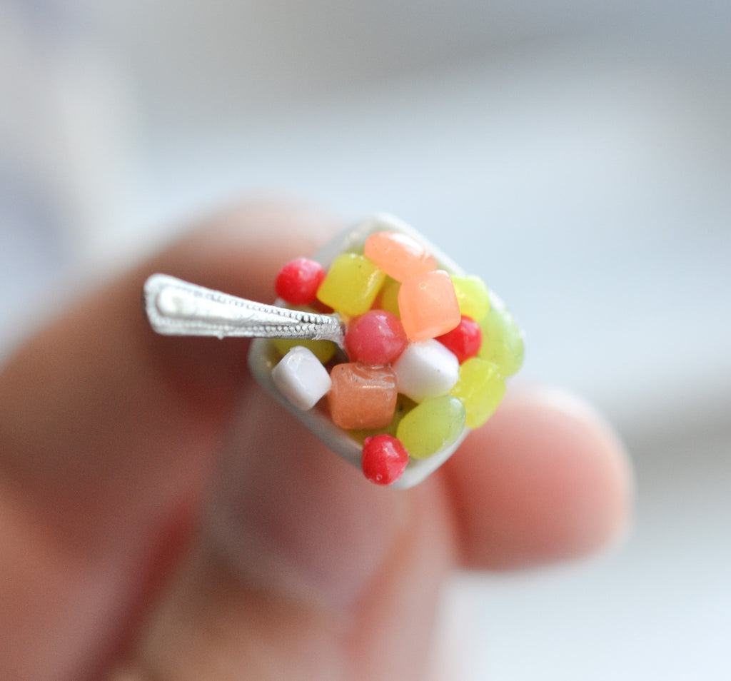 DIY POLYMER CLAY FRUIT SALAD CHARM