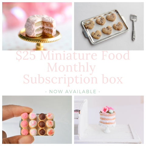25 miniature food subscription box