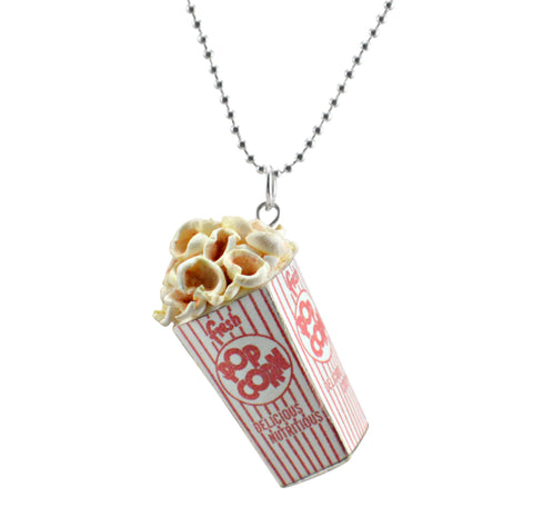 Scented Popcorn Charm Necklace