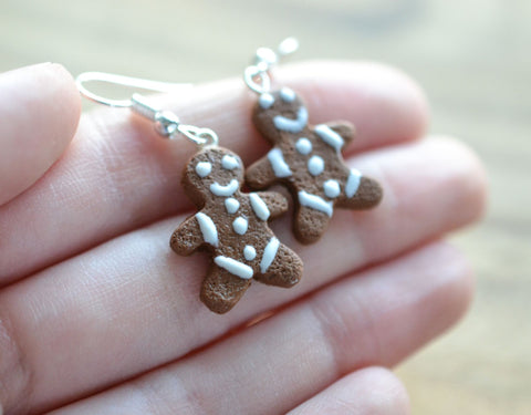 SALE Gingerbread Man Earrings