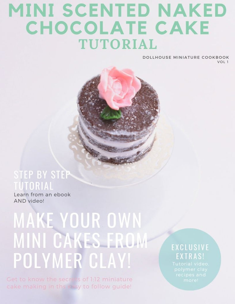 Instant Download DIY 1:12 Shabby Chic Naked Cake Dollhouse Miniature PDF + Video Tutorial
