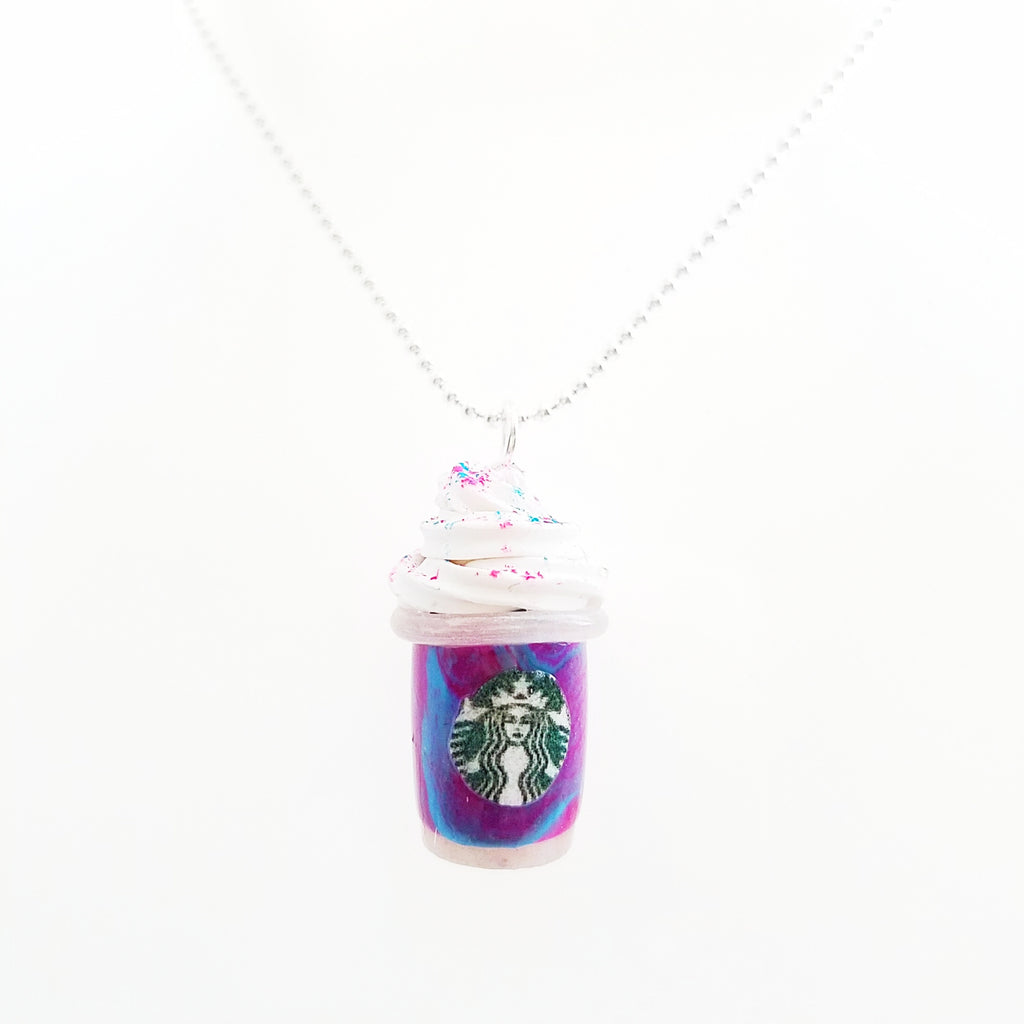 Scented Starbucks Inspired Unicorn Frappuccino Charm Necklace