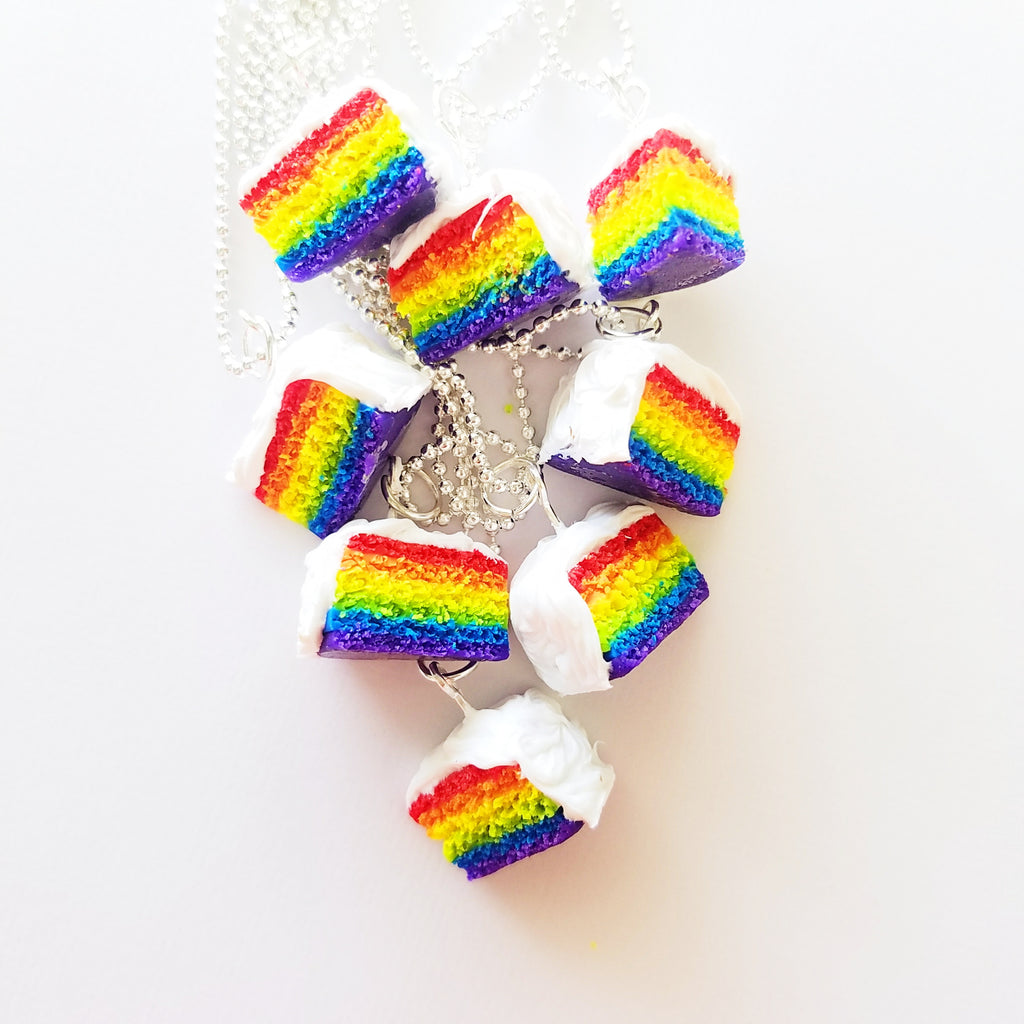 Scented Rainbow Cake Necklace