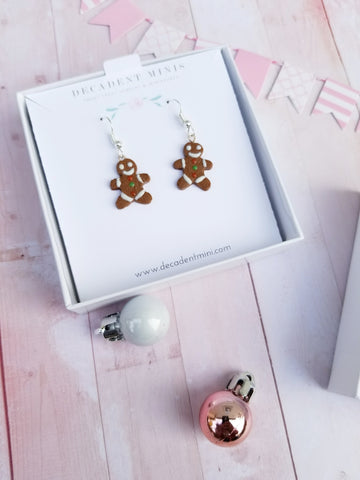 Scented Gingerbread Man Earrings