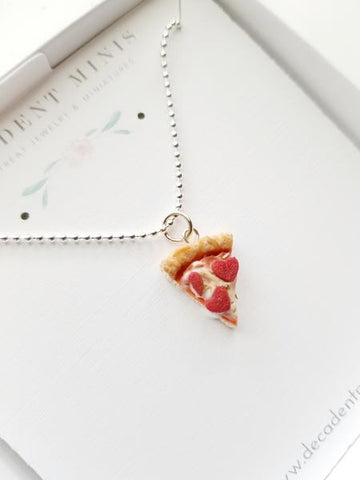 Scented Pepperoni Heart Pizza Necklace