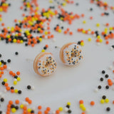 Scented Halloween Funfetti Donut Earrings