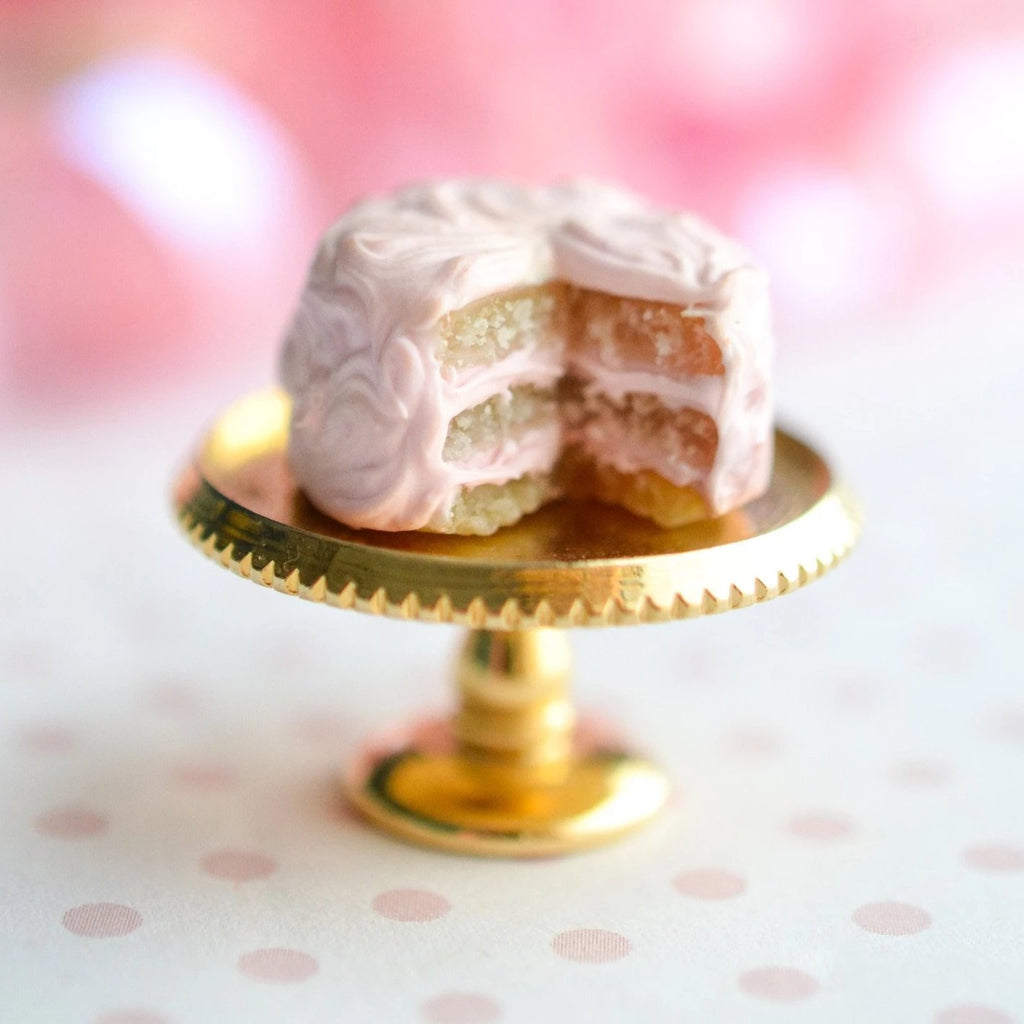 12th Scale Dollhouse Miniature Shabby Chic Pink Cake ONLY